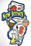 New Jersey Jumbo Map Fridge Magnet Design 9