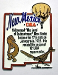 New Mexico State Outline Montage Fridge Magnet Design 4