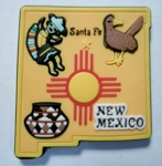 New Mexico Santa Fe Multi Color Fridge Magnet