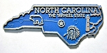 North Carolina Outline Fridge Magnet Design 2