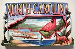 North Carolina Montage Artwood Fridge Magnet Design 27