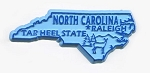 North Carolina Outline Fridge Magnet Design 1
