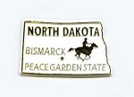 North Dakota State Outline Fridge Magnet Design 1