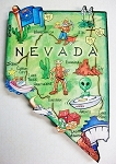 Nevada State Outline Artwood Jumbo Fridge Magnet