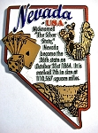 Nevada Outline Montage Fridge Magnet Design 4