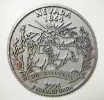 Nevada State Quarter Fridge Magnet Design 13