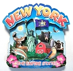 New York Montage Artwood Fridge Magnet Design 16