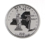 New York State Quarter Fridge Magnet Design 13