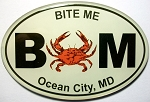 Ocean City Maryland Bite Me Oval Artwood Fridge Magnet Design 10