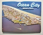 Ocean City Maryland Aerial View Fridge Magnet Design 10