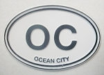Ocean City OC Oval Fridge Magnet Design 10