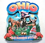 Ohio Montage Artwood Fridge Magnet Design 16