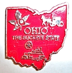 Ohio The Buckeye State Map Fridge Magnet Design 2