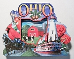 Ohio Montage Artwood Fridge Magnet Design 27
