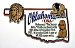 Oklahoma State Outline Montage Fridge Magnet Design 4