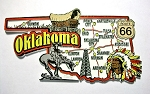 Oklahoma Jumbo Map Fridge Magnet Design 9