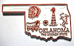 Oklahoma State Outline Fridge Magnet Design 2
