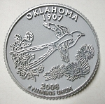 Oklahoma State Quarter Fridge Magnet Design 13