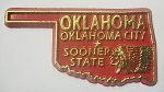 Oklahoma State Outline Fridge Magnet Design 10