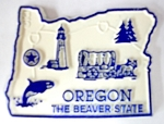 Oregon State Outline Fridge Magnet Design 2