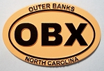 Outer Banks Orange Oval Fridge Magnet Design 10