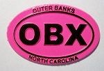 Outer Banks Pink Oval Fridge Magnet Design 10