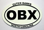 Outer Banks White Oval Fridge Magnet Design 10
