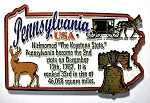 Pennsylvania Outline Montage Fridge Magnet Design 4