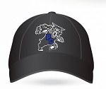 Pendleton Wildcats Embroidered Black Baseball Caps Design 1