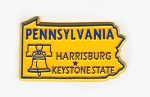 Pennsylvania State Outline Fridge Magnet Design 1
