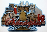 Philadelphia Skyline Fridge Magnet Design 30
