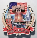Philadelphia Pennsylvania Montage Artwood Fridge Magnet Design 27