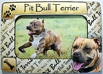 Pit Bull Terrier Picture Frame Fridge Magnet