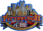 Pittsburgh Skyline Fridge Magnet Design 27