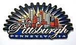 Pittsburgh Pennsylvania Sunburst Fridge Magnet Design 27
