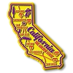 California Premium State Map Magnet Design 2