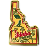 Idaho Premium State Map Magnet Design 2