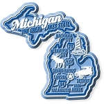 Michigan Premium State Map Magnet Design 2