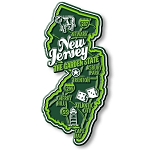 New Jersey Premium State Map Magnet Design 2