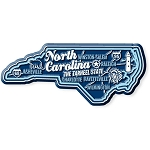 North Carolina Premium State Map Magnet Design 2