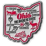 Ohio Premium State Map Magnet