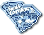 South Carolina Premium State Map Magnet Design 2