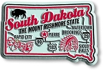 South Dakota Premium State Map Magnet Design 2