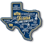 Texas Premium State Map Magnet Design 2