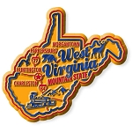 West Virginia Premium State Map Magnet