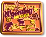 Wyoming Premium State Map Magnet Design 2