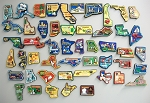 All 50 State Multi Color Fridge Magnets Complete Set Design 3