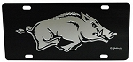 Arkansas Razorbacks Black Mirror License Plate-NCAA