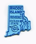 Rhode Island State Outline Fridge Magnet Design 1