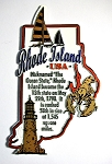 Rhode Island State Outline Montage Fridge Magnet Design 4